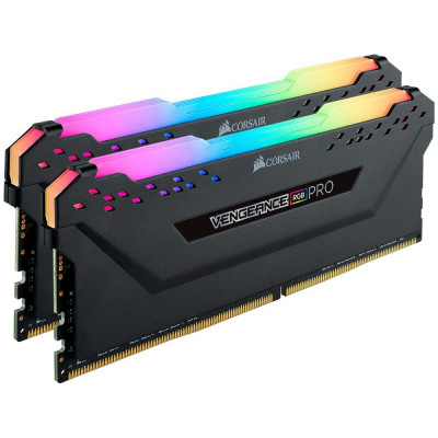 ذاكرة  VENGEANCE® RGB PRO 32GB (2 x 16GB) DDR4 DRAM 3200MHz C16  من كورسير - اسود