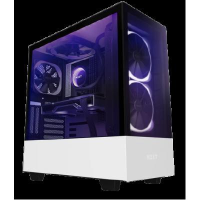 صندوق كمبيوتر H510 Elite ATX Mid-Tower من NZXT - أبيض