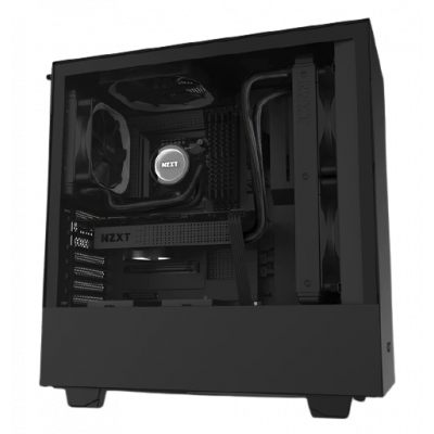 صندوق كمبيوتر NZXT H510 Compact Mid Tower - أسود