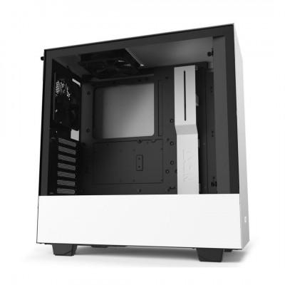 صندوق كمبيوتر NZXT H510 Compact Mid Tower - أبيض