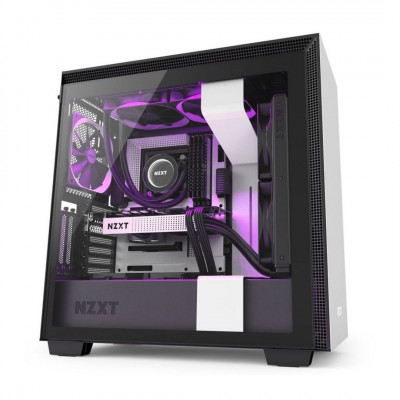 صندوق كمبيوتر NZXT H710i Mid Tower - أبيض