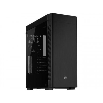 صندوق الكمبيوتر الذكي 110R Tempered Glass Mid-Tower ATX Case  من كورسير - اسود