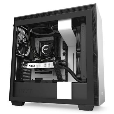 صندوق كمبيوتر H710 Mid Tower  من NZXT أبيض