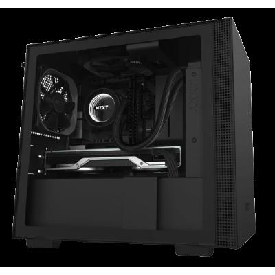 صندوق كمبيوتر NZXT H210 Mini ITX  - أسود