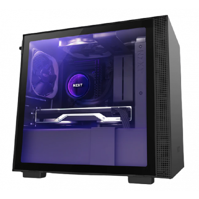 صندوق كمبيوتر NZXT H210i Mini ITX أسود