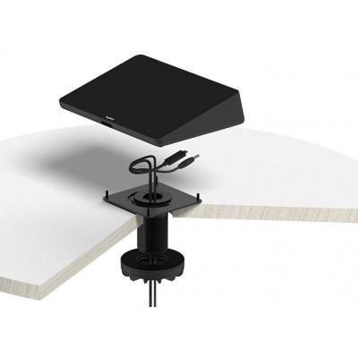 قاعدة دوارة قابلة للتثبيت مع إدارة الكابلات من لوجيتيك