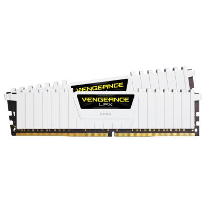ذاكرة VENGEANCE® LPX 32 جيجابايت (2 × 16 جيجابايت) ذاكرة DDR4 DRAM 3200 ميجاهرتز C16  من كورسير - أبيض /  أسود