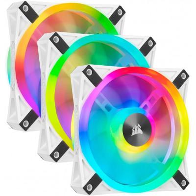 مروحة ثلاثية iCUE QL120 RGB 120mm PWM White من كورسير