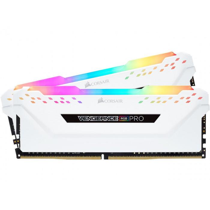 RGB PRO 16 VENGEANCE® جيجابايت (2 × 8 جيجابايت) DDR4 DRAM 3600MHz C18طقم ذاكرة من كورسير – أسود-أبيض