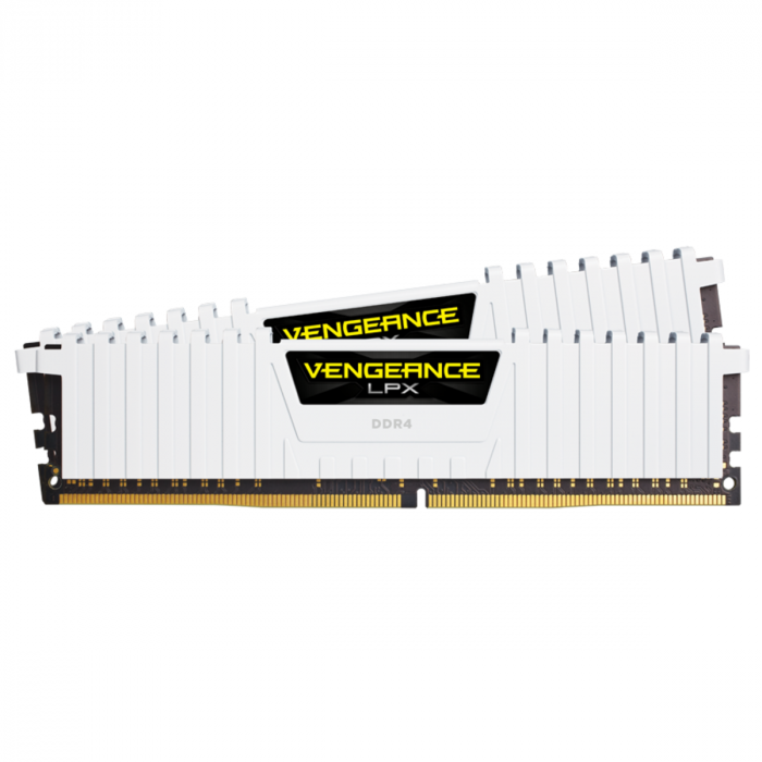 VENGEANCE® LPX 16 جيجابايت (2 × 8 جيجابايت) DDR4 DRAM 3200MHz C16 طقم ذاكرة من كورسير - أبيض