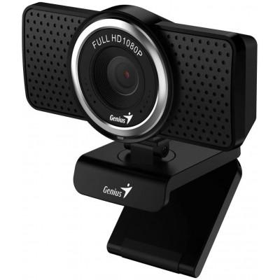 كاميرا ويب عالية الدقة بدقة 1080 بكسل ECAM 8000 من جينيس- أسود