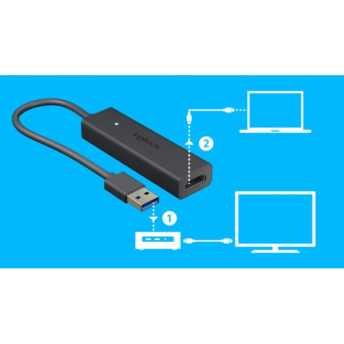 وصلة HDMI لمشاركة الشاشة من لوجيتيك