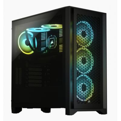 4000D AIRFLOW صندوق الكمبيوتر من الزجاج المقوى من كورسير - اسود