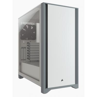 صندوق الكمبيوتر D4000 كورسير Mid-Tower — ابيض