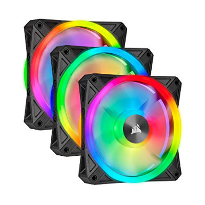 مروحة ثلاثية iCUE QL120 RGB 120mm PWM Triple Fan with Lighting Node CORE من كورسير
