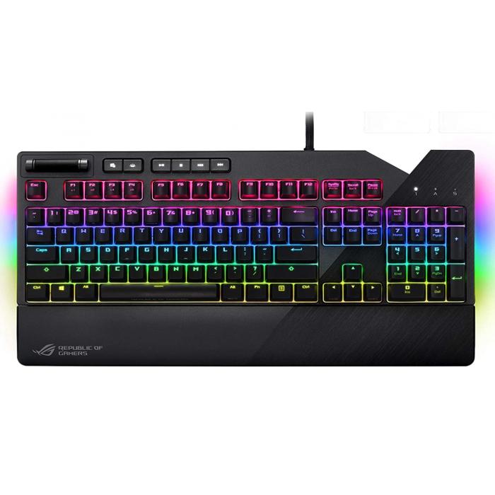 اسوس  لوحة مفاتيح الألعاب الميكانيكية ROG Strix Flare RGB مع مفاتيح Cherry MX Red