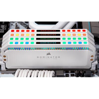 ذاكرة عشوائية DOMINATOR® PLATINUM RGB 16GB (2 x 8GB) DDR4 DRAM 3200MHz C16 أبيض من كورسير