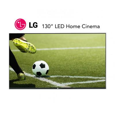 شاشة سينما منزلية ليد من ال جي بحجم 130 بوصة | خدمة تركيب مجانية