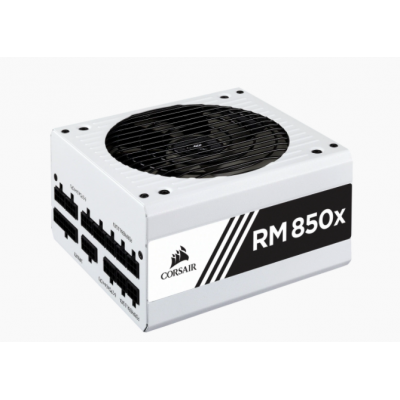 مزود طاقة RMx Series™ RM850x — 850 Watt 80 PLUS® Gold Certified Fully Modular PSU (UK) ابيض