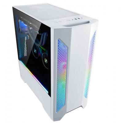 صندوق الكمبيوتر Lian Li Lancool 2 Tempered Glass ATX Case من ليان لي - أبيض