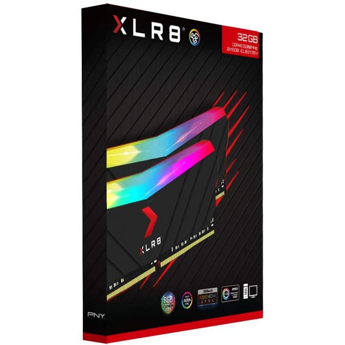 PNY XLR8 RGB Gaming RAM DDR4 3200MHz 32GB (2x16GB)