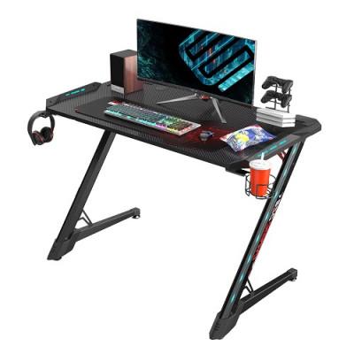 طاولة كمبيوتر الألعاب Eureka Ergonomic Z1-S PRO Gaming Desk With RGB Lights - Black