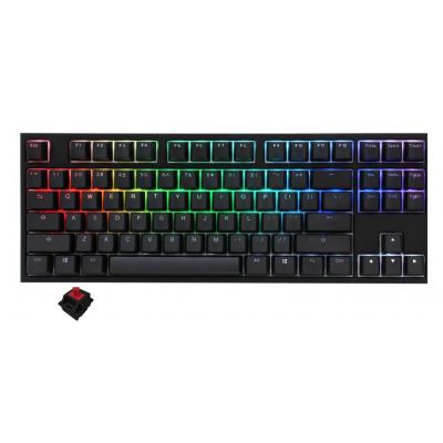 لوحة مفاتيح Ducky One 2 TKL RGB Cherry Red RGB Switch | مع مفاتيح الإنجليزية / العربية