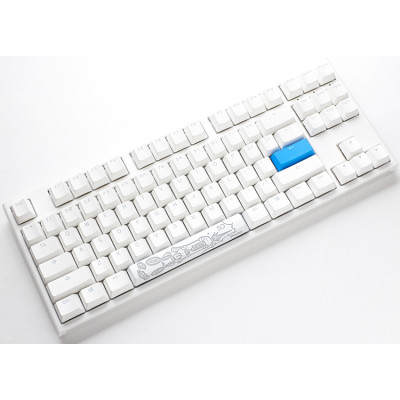 لوحة مفاتيح الألعاب الميكانيكية Ducky One 2 TKL RGB بتخطيط عربي أبيض - مفتاح Cherry MX Red