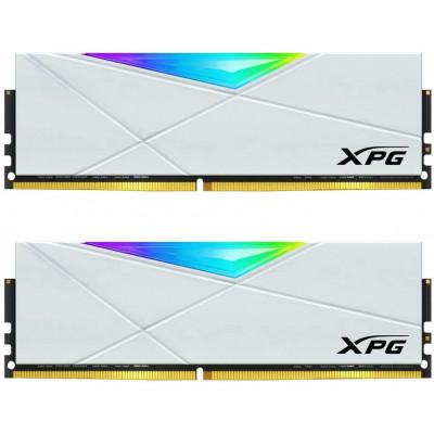 ذاكرة ألعاب سطح المكتب XPG D50 RGB 32GB (2x16GB) 3200MHz DDR4 PC4-25600 U-DIMM 288-Pins CL16-20-20 - أبيض