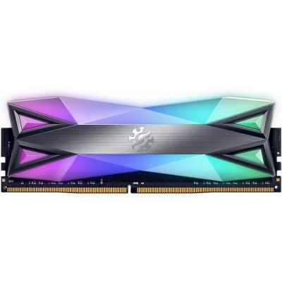 ذاكرة سطح المكتب XPG DDR4 D60G RGB 16 جيجا بايت (2x8 جيجا بايت) 3200 ميجا هرتز CL16 PC4-25600 U-DIMM - رمادي