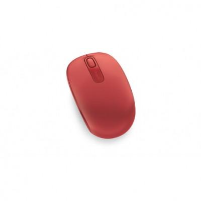 ماوس لاسلكي 1850 من Microsoft احمر