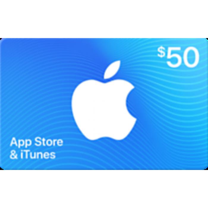 بطاقة آيتونز بقيمة 50$ (تسليم الكود عبر البريد الإلكتروني) السعر شامل لضريبة القيمة المضافة