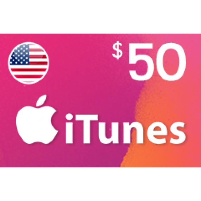 بطاقة آيتونز بقيمة 50$ متوافقة مع الستور الأمريكي (تسليم الكود عبر البريد الإلكتروني) السعر شامل لضريبة القيمة المضافة