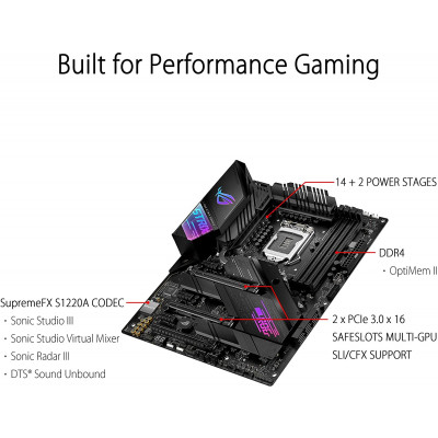 اللوحة الأم ASUS ROG STRIX Z490-E GAMING LGA 1200 (Intel 10th Gen) ATX