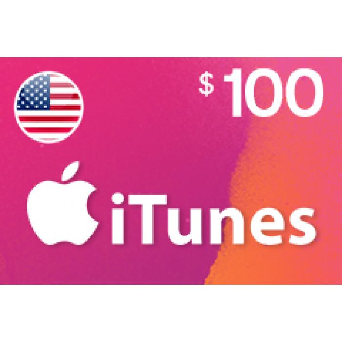 بطاقة آيتونز بقيمة 100$ متوافقة مع الستور الأمريكي (تسليم الكود عبر البريد الإلكتروني) السعر شامل لضريبة القيمة المضافة