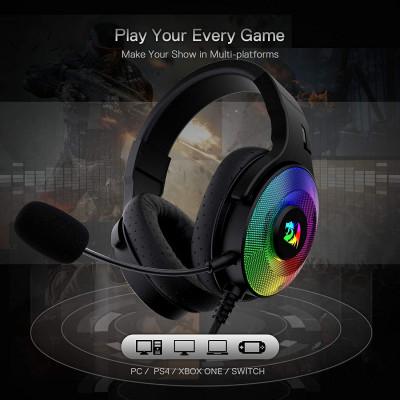 ريدراجون | سماعة الألعاب السلكية H350 Pandora RGB | B08K7JN5V4