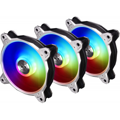 مروحة    BORA-DIGITAL-BLACK  BORA Digital Addressable RGB PWM 120mm 3 Pack  رمادي  من ليان لي