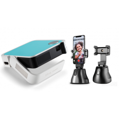 Home Theater 1 |  ViewSonic M1 Mini projector + Free Apai Genie Robot-Cameraman