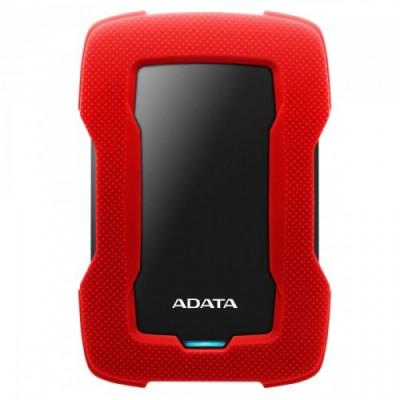 قرص صلب HD330 1TB USB3.1 من اداتا أحمر