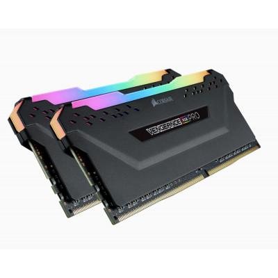 كورسير   RAM   مجموعة ذاكرة VENGEANCE® RGB PRO 16 جيجابايت (2 × 8 جيجابايت) 3600 ميجاهرتز - أسود  CMW16GX4M2Z3600C18