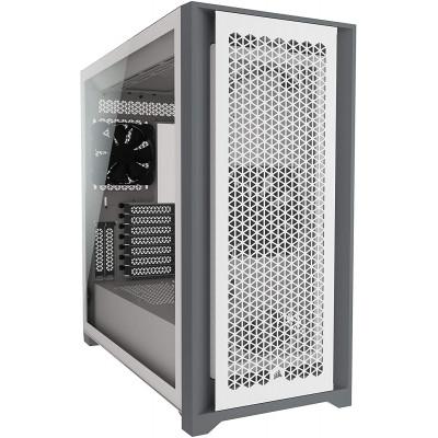 كورسير | 5000D AIRFLOW غلاف كمبيوتر من الزجاج المقوى Mid-Tower ATX - أبيض | CC-9011211-WW