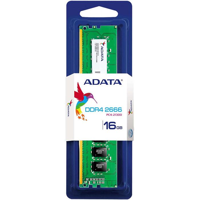 ADATA | Memory 16GB Premier DDR4 2666 288-Pin U-DIMM | AD4U2666316G19-S