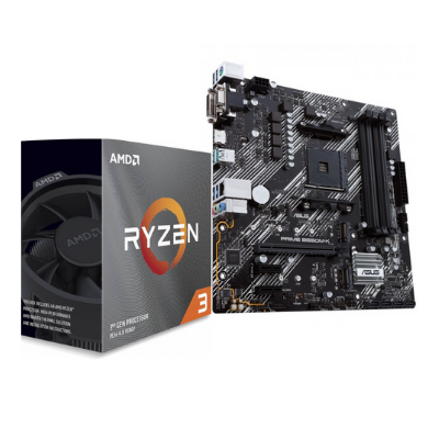 ASUS - AMD   Motherboard PRIME B550M-K with AMD Ryzen™ 3 3100 3.6Ghz Desktop Processor   90MB14V0-M0EAY0 , 100100000284BOX