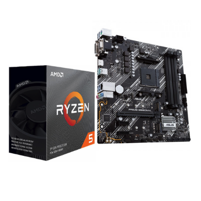 ASUS - AMD | Motherboard PRIME B550M-K with AMD RYZEN 5 3600 4.2 GHz Max Boost, 3.6 GHz Base | 90MB14V0-M0EAY0 , 100100000031MPK