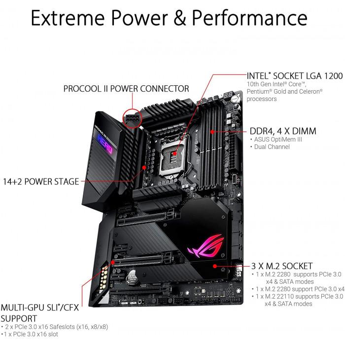 ASUS   اللوحة الام   Maximus XII Hero Z490 (WiFi) LGA 1200 (Intel 10th Gen) ATX   90MB12R0-M0EAY0