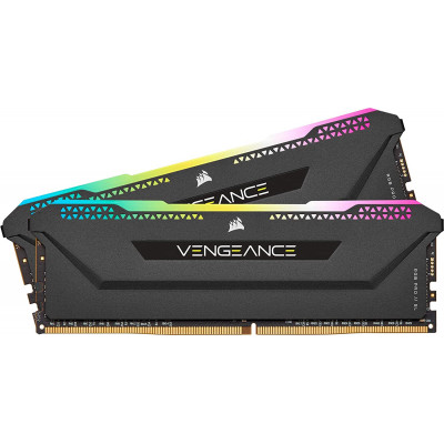 كورسير | بطاقة ذاكرة |  Vengeance RGB Pro 16GB (2x8GB) DDR4 3600 - Black | CMH16GX4M2D3600C18