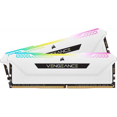 كورسير | بطاقة ذاكرة | Vengeance RGB Pro SL 32GB (2x16GB) DDR4 3200 - White | CMH32GX4M2E3200C16W
