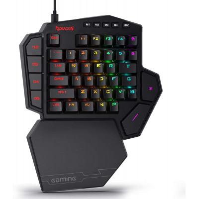 ريدراجون | لوحة مفاتيح الألعاب | لوحة مفاتيح الألعاب الاحترافية K585 DITI بيد واحدة RGB Type-C مع 7 مفاتيح ماكرو مدمجة
