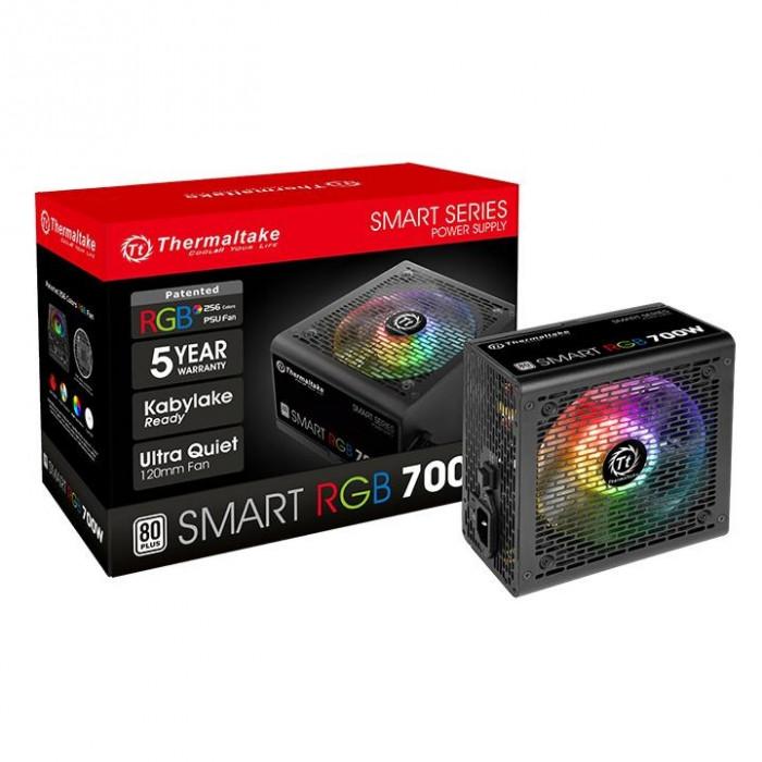 Thermaltake | مزود الطاقة | سمارت RGB 80+ أبيض 700 وات | PS-SPR-0700NHSAWK-1