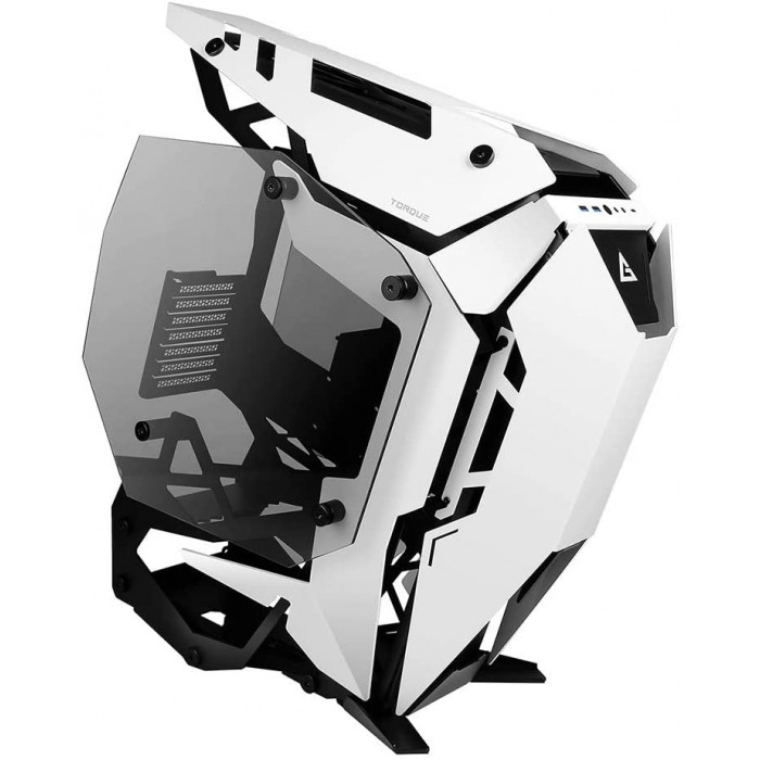 انتيك | صندوق للكمبيوتر | Torque White / Black Aluminum ATX Mid Tower